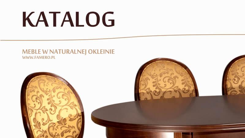 Katalog krzesel i stołów Meble Famero